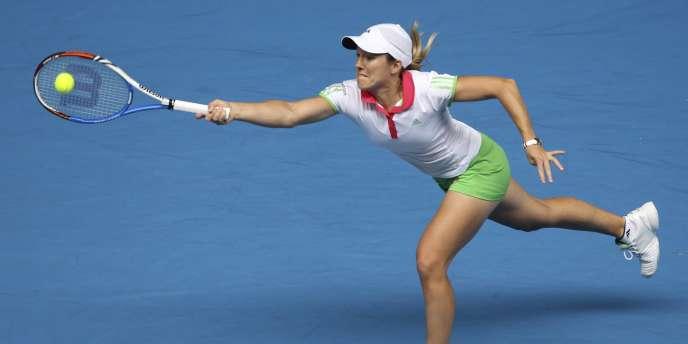 Justine Henin, le 19 janvier à Melbourne.