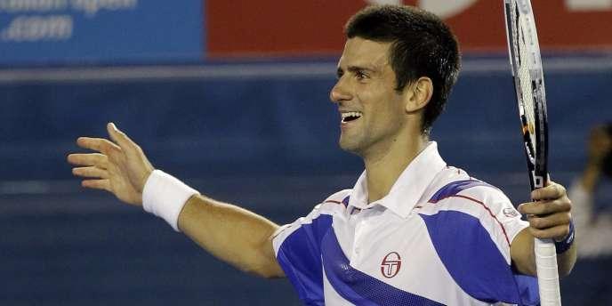Novak Djokovic, le 27 janvier, à Melbourne.