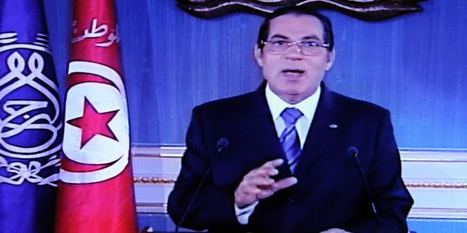 Dernier discours télévisé de Zine El-Abidine Ben Ali, le 13 janvier 2011.