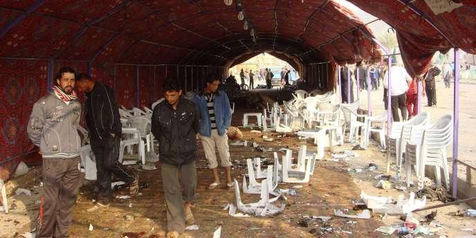 L'attaque a eu lieu contre une tente où une famille recevait les condoléances de proches, dans un quartier chiite de la capitale irakienne.