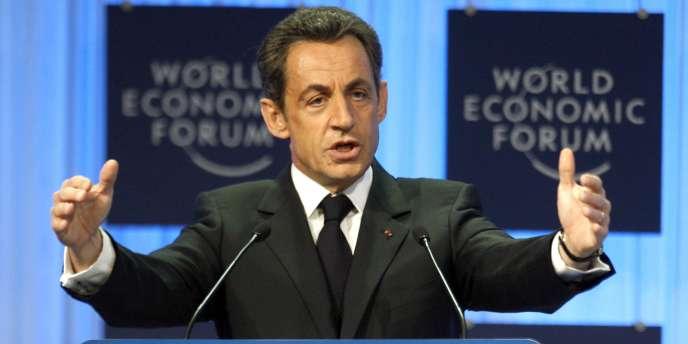 Nicolas Sarkozy lors du Forum de Davos, le 27 janvier 2011.