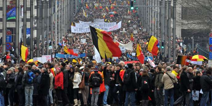 Entre 30 000 et 40 000 Belges ont participé, dimanche 23 janvier à Bruxelles, à une marche de la