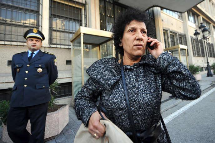 L'avocate et militante des droits de l'homme tunisienne Radhia Nasraoui à Tunis, le 14 janvier 2011.