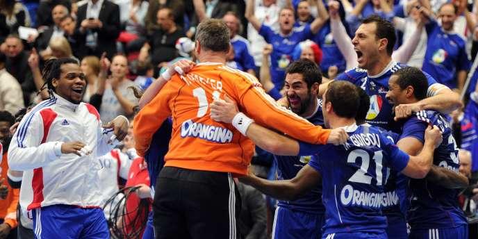 Les Bleus exultent, ils sont en finale du Mondial 2010.
