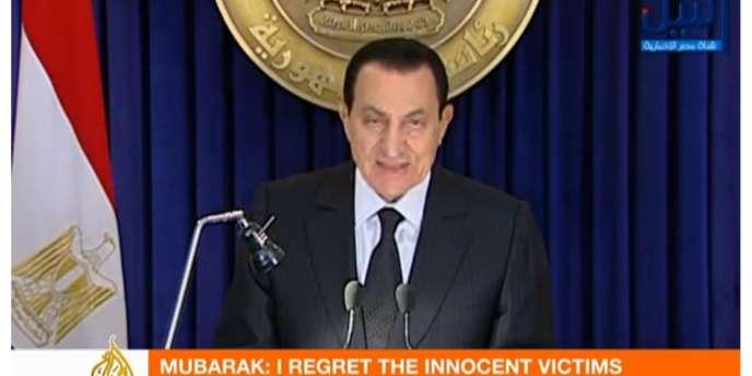 Hosni Moubarak a promis au peuple d'