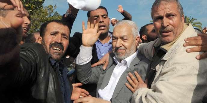 Le dirigeant du parti Ennahda, Rached Ghannouchi.
