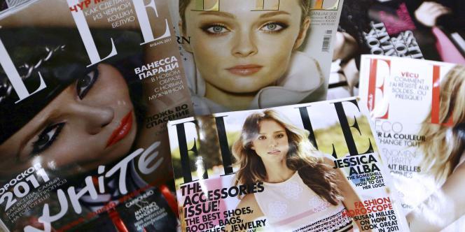 La diffusion du magazine «Elle» est descendue sous 350000exemplaires par semaine au premier semestre2014, contre 369000 en moyenne en 2013 et 380000 en 2012.