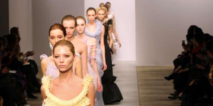 Défilé haute-couture de Christophe Josse, le 24 janvier à Paris.