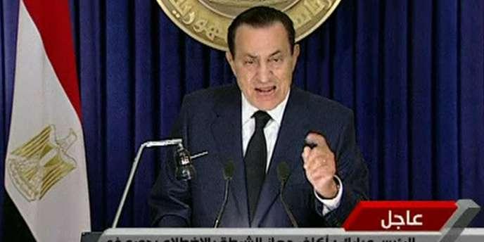 L'allocution de Hosni Moubarak à la télévision publique égyptienne, mardi 1er février.