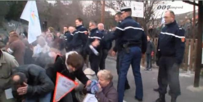 Un extrait de la vidéo sur la manifestation à Anduze (Gard).