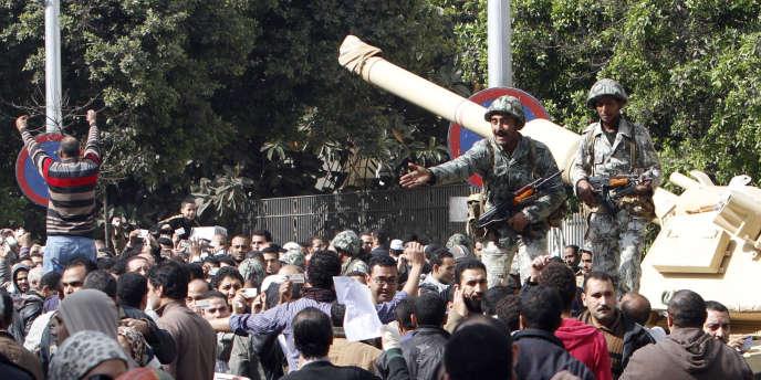 Militaire égyptien au Caire, le 1er février 2011.