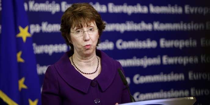 Catherine Ashton à Bruxelles, le 2 février.