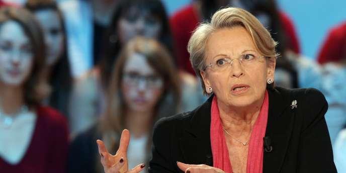 Michèle Alliot-Marie sur le plateau du