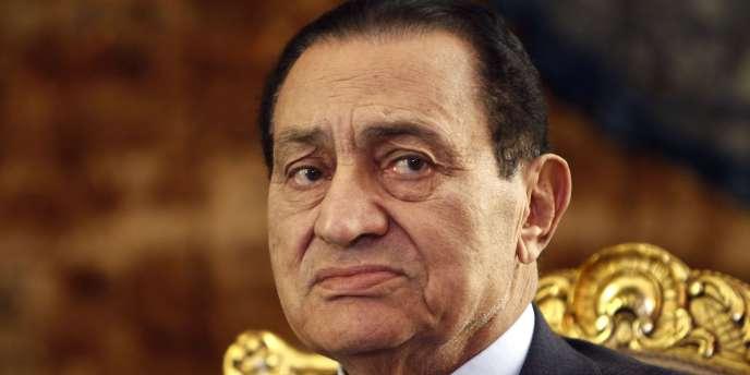 L'ancient président égyptien Hosni Moubarak, en octobre 2010.