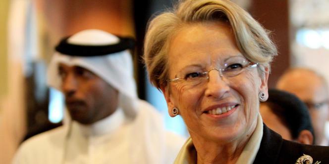 Michèle Alliot-Marie lors d'une visite à Doha, le 13 janvier.