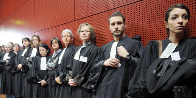 Des magistrats assistent à une assemblée générale lundi 7 février au palais de justice de Nantes.