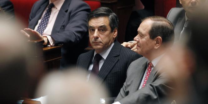 Francois Fillon lors des questions au gouvernement, mardi 8 février.