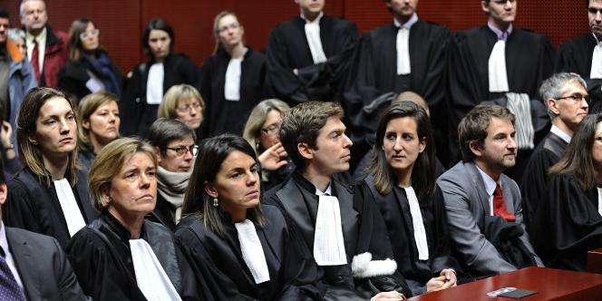 Assemblée générale de magistrats, au palais de justice de Nantes, le 4 février.