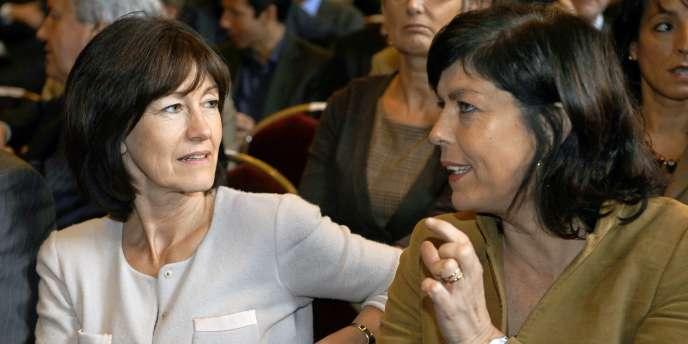 Laurette Onkelinx et Joëlle Milquet, vice-premières ministres sortantes du gouvernement belge.