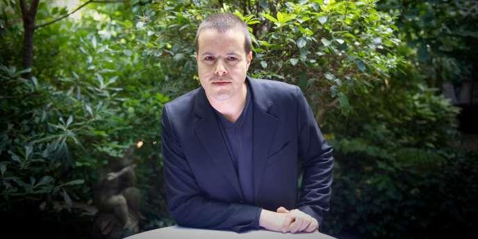 Photo prise le 30 août 2010 à Paris du journaliste français Nicolas Demorand.