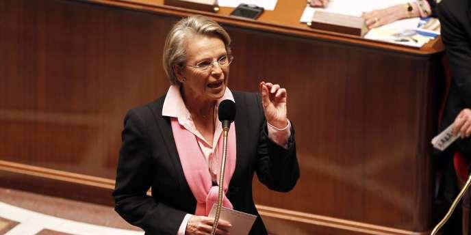 Michèle Alliot-Marie lors de la séance de questions au gouvernement, mardi 8 février.