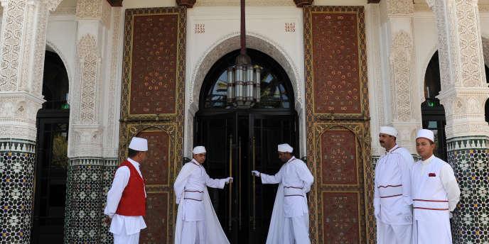 L'entrée du palais Mamounia au Maroc.