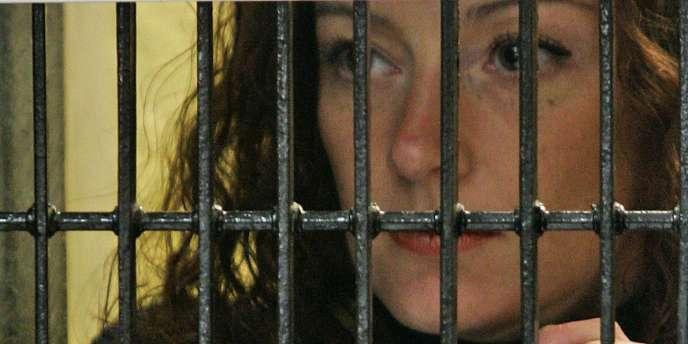 Florence Cassez, en 2008, dans sa prison mexicaine.