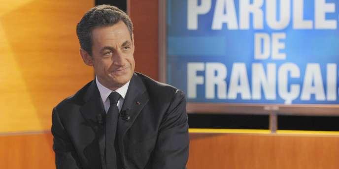 Nicolas Sarkozy, lors de l'émission
