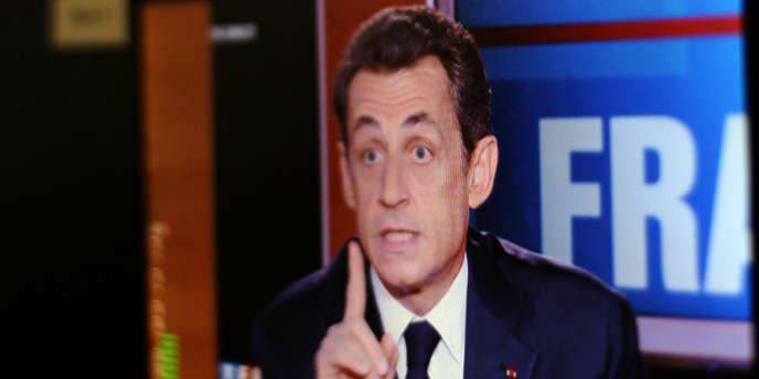 Nicolas Sarkozy, le 10 février, lors de l'émission