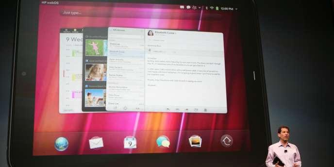 Le Touchpad de Hewlett Packard.