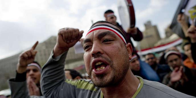 Au Caire, le 11 février 2011.