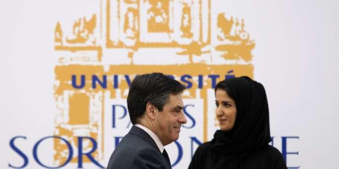 François Fillon lors de l'inauguration du nouveau campus de la Sorbonne-Abou Dhabi, samedi 13 février 2011.