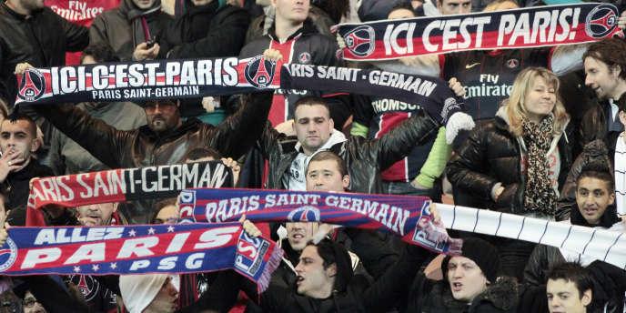Des supporteurs du PSG contre Lens le 8 janvier 2011.