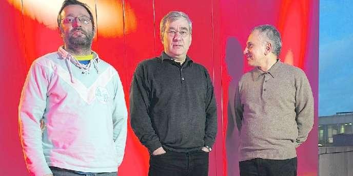 Vincent Maraval, Vincent Grimond et Brahim Chioua, trois des quatre créateurs de Wild Bunch au Festival international du film de Berlin, le 11 février 2011.