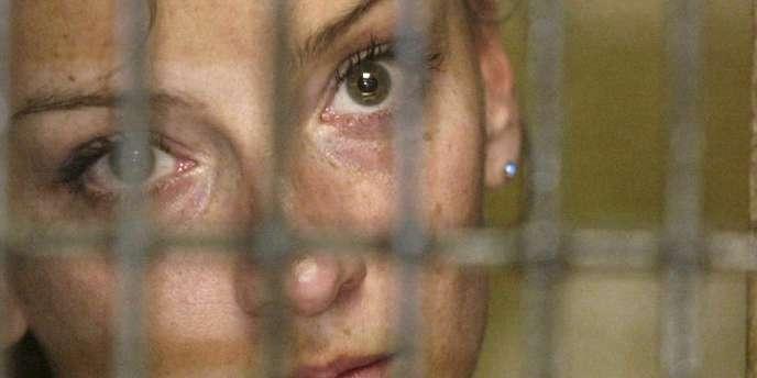 Florence Cassez, à Mexico, le 9 décembre 2005. La Française a été condamnée à soixante de prison.