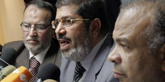 Conférence de presse des Frère musulmans au Caire, le 9 février 2011.