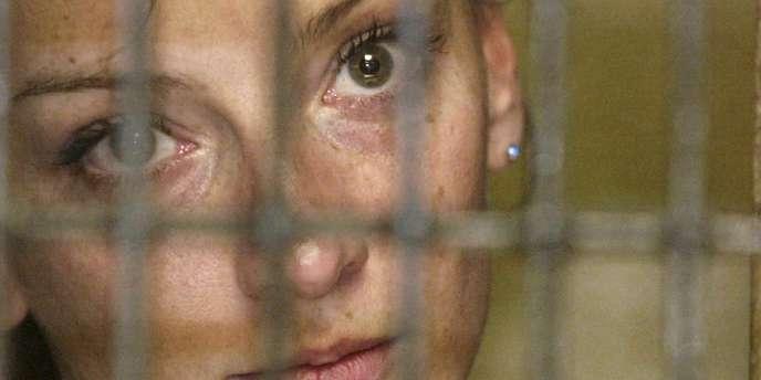 Florence Cassez, le 9 décembre 2005, à Mexico. La Française a été condamnée en février 2011 à soixante de prison.