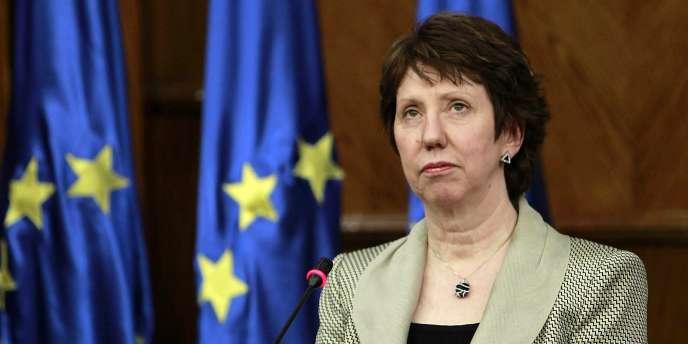 Catherine Ashton, le 16 février 2011 à Amman.