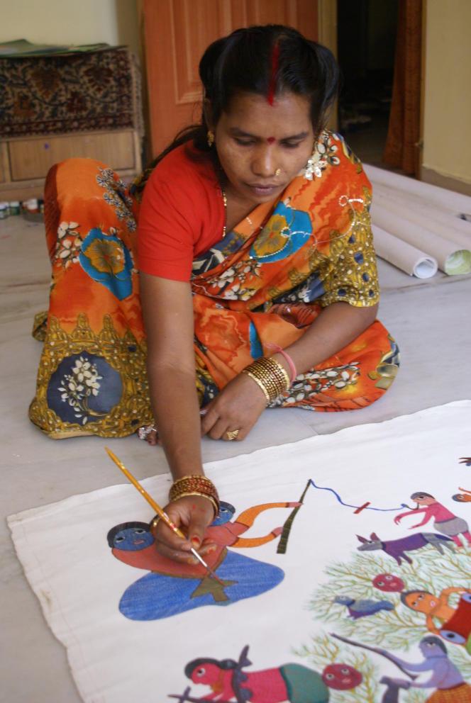 Durga Bai Vyam, chez elle.
