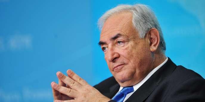 Le patron du FMI, Dominique Strauss-Kahn, lors d'une conférence, le 10 février 2011, à Washington.