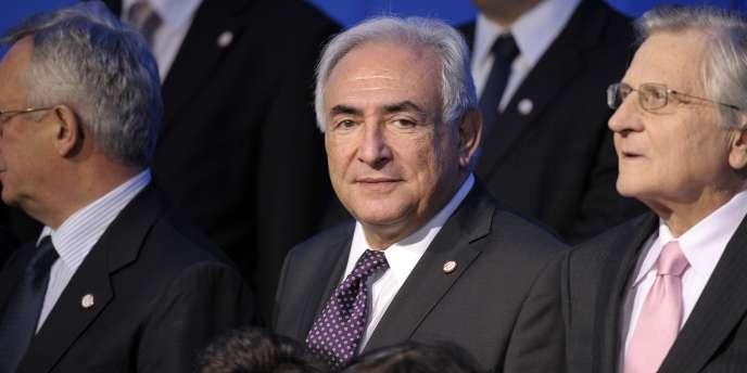 Dominique Strauss-Kahn, a Paris pour le G20.