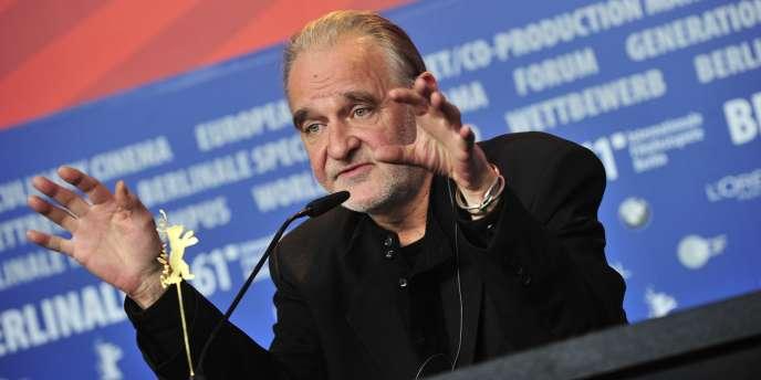 Le réalisateur hongrois Béla Tarr lors d'une conférence de presse à Berlin, le 19 février 2011.