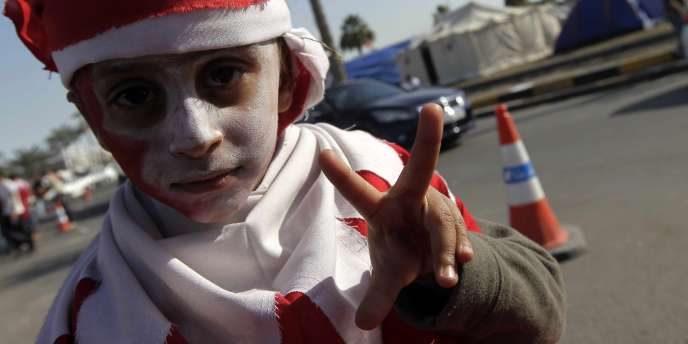 Un jeune manifestant à Manama.