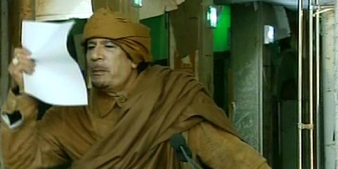 Le leader libyen s'est adressé par téléphone à la population, via la télévision publique nationale, jeudi 24 février.