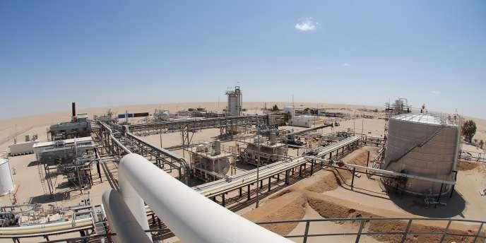 L'un des installations de l'Allemand Wintershall dans le désert Libyen.