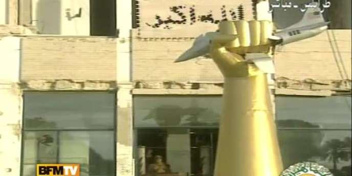 Capture d'écran  du discours de Mouammar Kadhafi, le 22 février 2011.