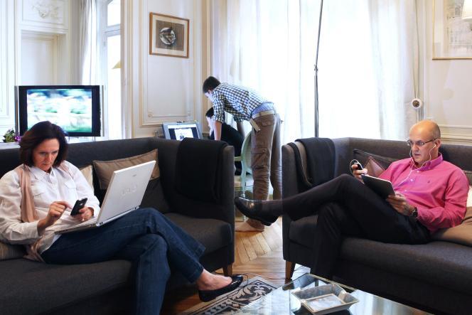 La famille Defline à Paris.