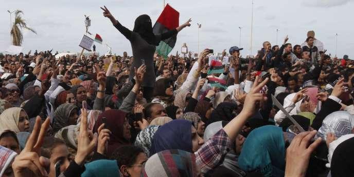 A Benghazi, mercredi 23 février.