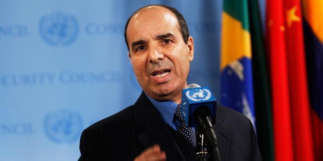 Ibrahim Dabbashi, vice ambassadeur de la Libye à l'ONU, le 25 février.