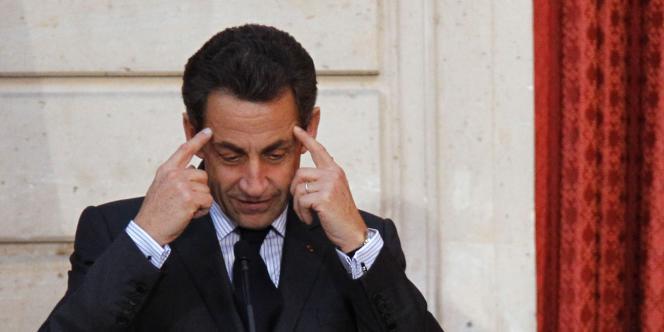 Le président français, Nicolas Sarkozy, à l'Elysée, le 16 février.
